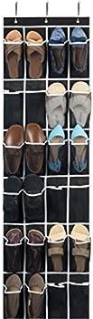 Zober 24 Breathable Pocket Over The Door Shoe Organizer