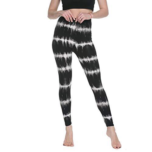 SHOPZZ 2 Piezas de Mujer Leggings de Cintura Alta de Dibujos Animados cómicos con Estampado de Belleza Pantalones Suaves Femeninos Casuales Pantalones elásticos Coloridos, Talla única