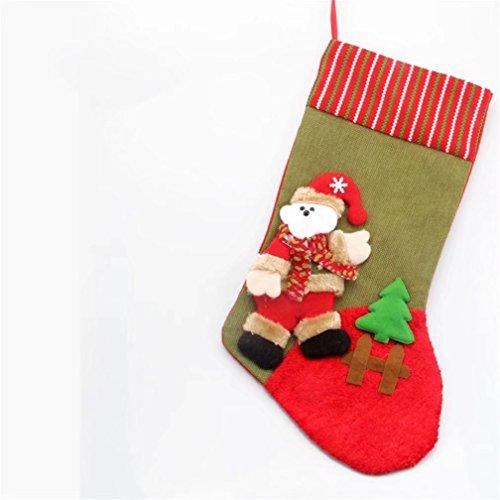 DISCOVERY 1pz Calze di Natale Decorazioni di Natale 3D Sacchetto Regalo di Natale Grande Sacchetto di Caramelle Giocattolo Calzini da Appendere