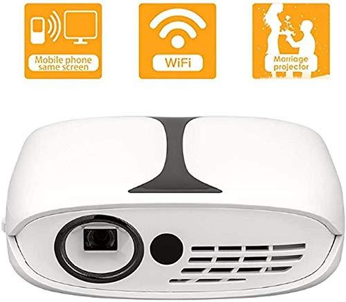 YAYY mini-projector thuisbioscoop projector wifi internet Bluetooth mobiele stroomvoorziening ± 40 ° Smart Correction hetzelfde scherm 2 × 2600 mAh met statief (upgrade)