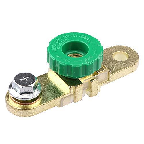 MaoWan Interruptores de automóvil de Montaje Lateral de latón Poste Lateral Interruptor de desconexión Principal de batería Interruptor de Corte Accesorios para automóvil (Color : A)