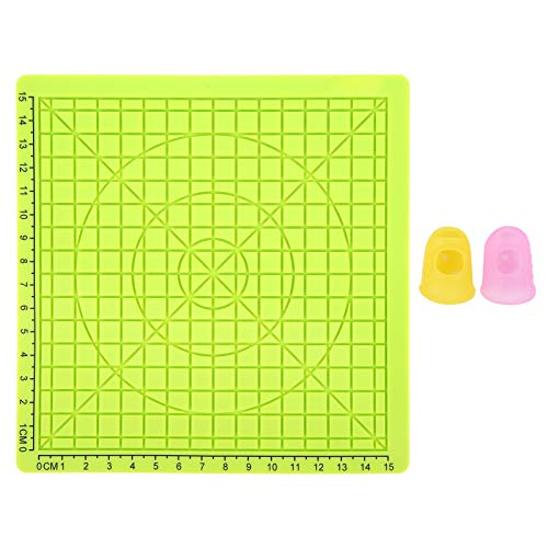 3D Printing Silicone Mat Template Pad Copy Board + Pack with Extra Gift 2 Silicone Finger Caps Drawing Tools Green Type B