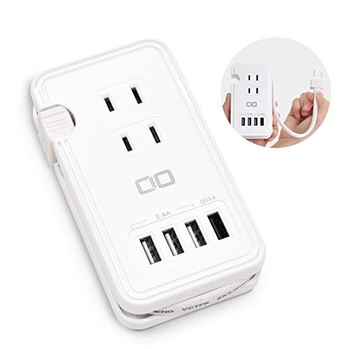 CIO KJ-C03 電源タップ USB コンセント 急速充電 QC3.0 USB付き 充電器 USBハブ ACアダプター 変換 Quick Charge 3.0 iPhone スマホ充電器 携帯 Andoid アイフォン iPad