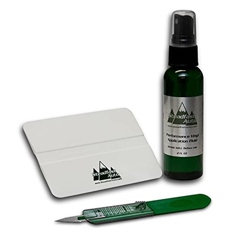 Steadfast Auto 51997 - Vinyl Decal Installation Kit - Application Fluid, Squeegee, Trim Knife