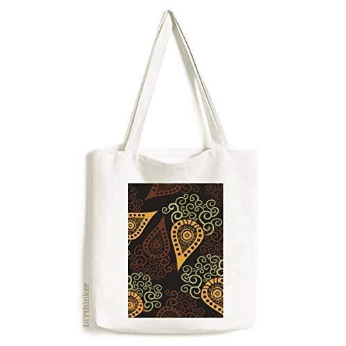 Impressão repetição de tecido colorido arte rabanete sacola sacola de compras bolsa casual bolsa de mão