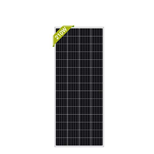 Newpowa 210 Watt 210W 12V Solar Panel High Efficiency Mono Module RV Marine Boat Off Grid (210W Mono)