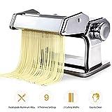 Edelstahl Pasta Maschine Manuell Nudelmaschine Rollen-Maschine Cutter Frische Pasta Lasagne Beste...