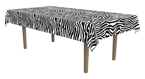 Zebra Stripes Table Cover. Perfect for 80s metal band lovers.