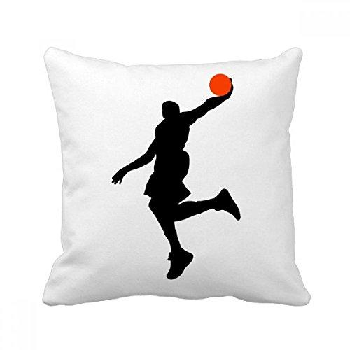 DIYthinker Capa de almofada para sofá com jogador de basquete Jumping Sports