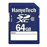 HanyeTech SDXC 64GB クラス10(class10) ハイビジョン録画対応 並行輸入バルク品
