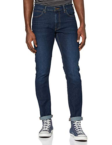 Lee Herren Tapered' Tapered Fit Jeans Luke', Blau (Dark Brisbee Kf), W38/L34 (Herstellergröße: W38/L34 )