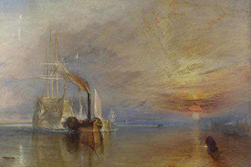 // TPCK // Póster de J. M. W. Turner – The Fighting Temeraire (1839) – Cuadro artístico – Joseph Mallord William Turner RA – Tamaño A2 (42 x 59,4 cm)