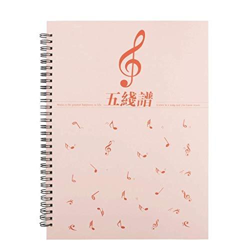 Linjolly Cuaderno 1-5 Paquete Hoja en Blanco Piano Música Cuaderno Niños: Manuscript/Music Clef Notebook (10.1'x8.2), Aprender música portátil Diario (Color : 2-Pack)