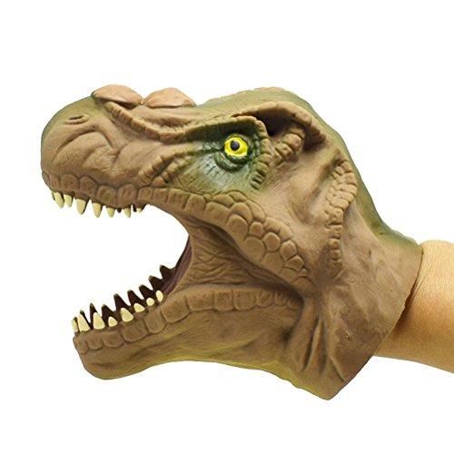 TOYMYTOY Handpuppe Dino Handspielpuppe Weiche Gummi für Kinder (Tyrannosaurus)