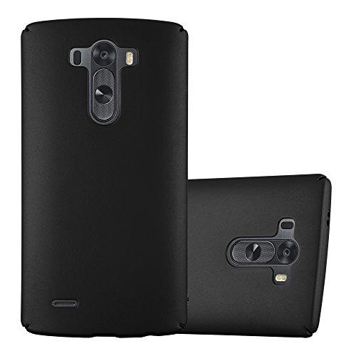 Cadorabo Funda para LG G3 en Metal Negro - Cubierta Protección de Plástico Duro Super Delgada e Inflexible con Antichoque - Case Cover Carcasa Protectora Ligera