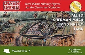 Plastic Solider 1/72 Allied Sherman M4A4 and Firefly Tank # WW2V20015 by Plastic Soldier Company