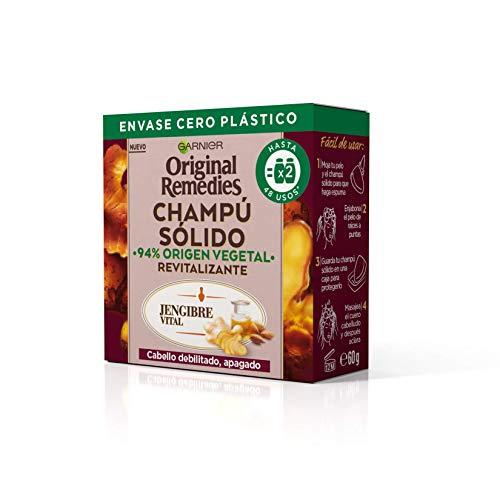 Garnier Original Remedies Champú Sólido Jengibre Vital Para Cabello Debilitado, Apagado