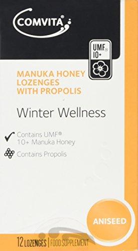 Comvita Manuka Honey with Propolis Aniseed Lozenges, Pack of 12
