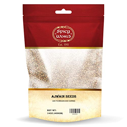 Ajwain Seeds 14 oz (Carom Seeds) | Resealable Bag | Also known as Bishops Weed | By Spicy World