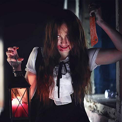 Dadabig 2,2m/16 Pezzi Banner Horror di Halloween, Ornamenti Horror di Halloween Decorazione Sanguinante per Festa a Tema Bar Haunted House