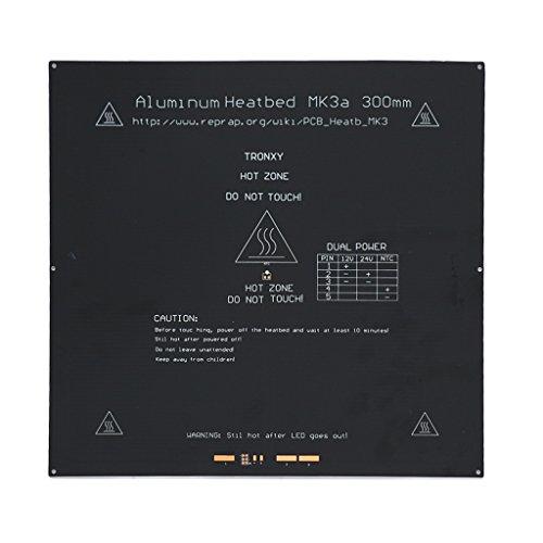 MagiDeal 330x330x3mm Heiz Bett aus Aluminiumlegierung für 3D Drucker Leiterplatte