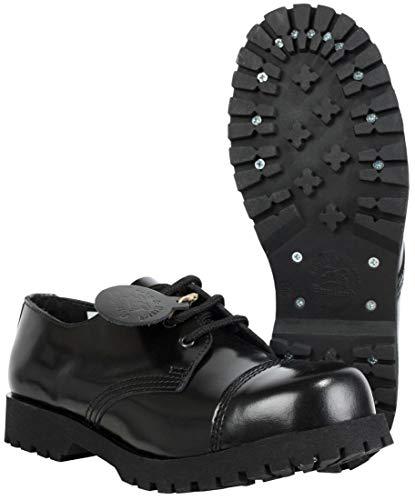 Boots & Braces Schuhe 3-Loch Rangers Schwarz, Schwarz, 44 EU