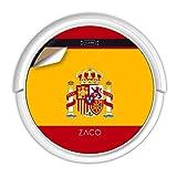 ZACO V5sPro Robot Aspirador y fregasuelos, aspirar y Fregar hasta 180m2, para Suelos Duros, Madera,...