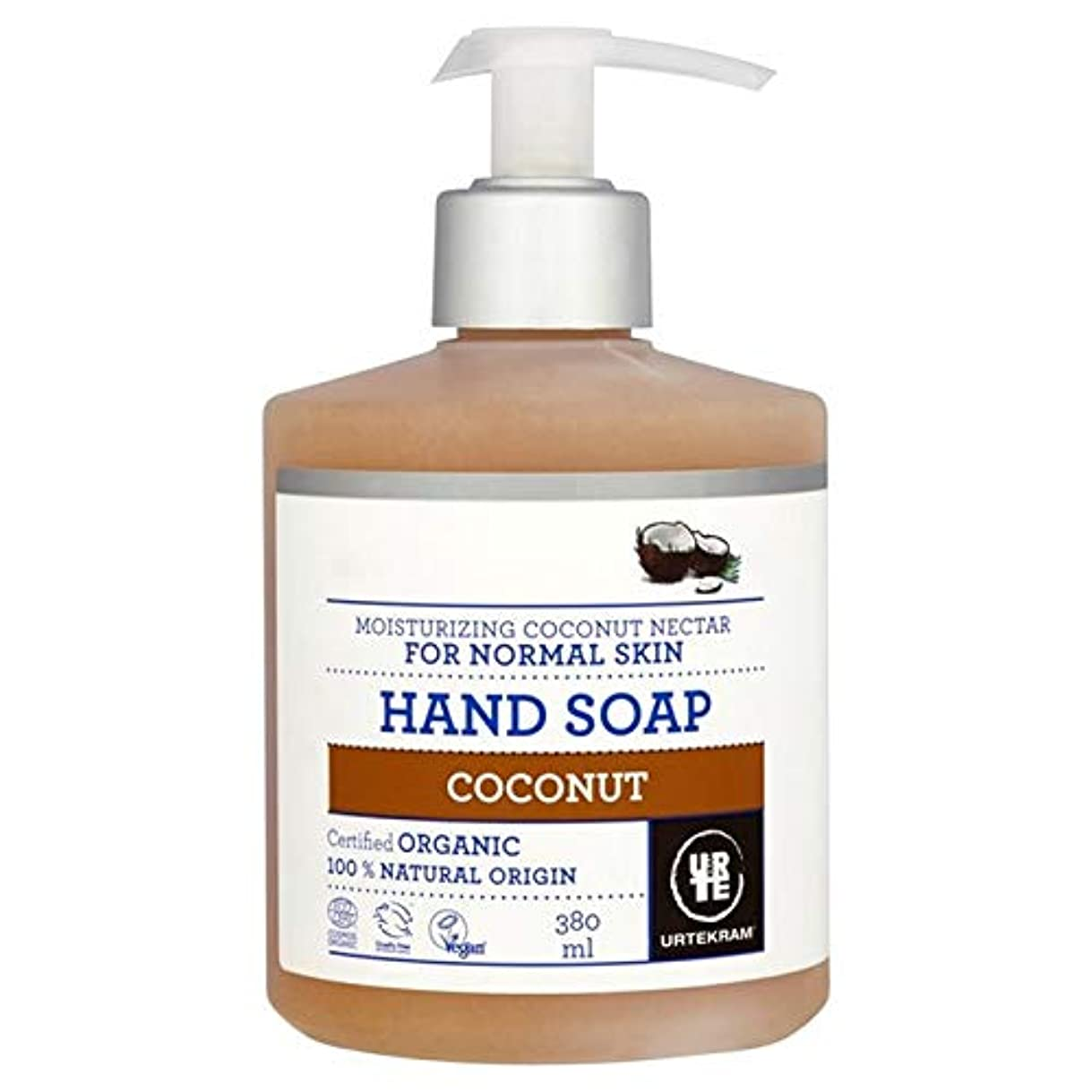 背が高い灌漑気付く[Urtekram] Urtekramココナッツ液体ハンドソープ380ミリリットル - Urtekram Coconut Liquid Hand Soap 380ml [並行輸入品]