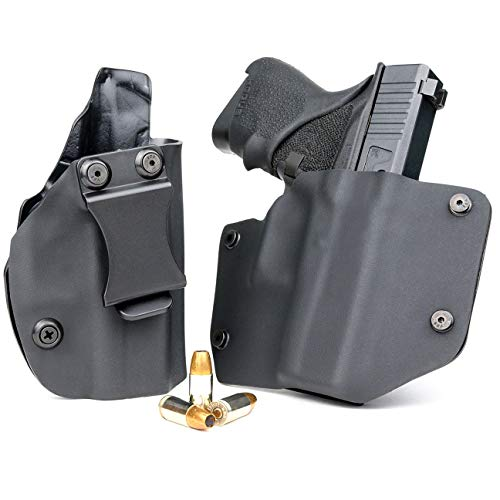 R&R Holsters OWB & IWB Combo Pack - Black (Right-Hand, Fits Glock 43X)