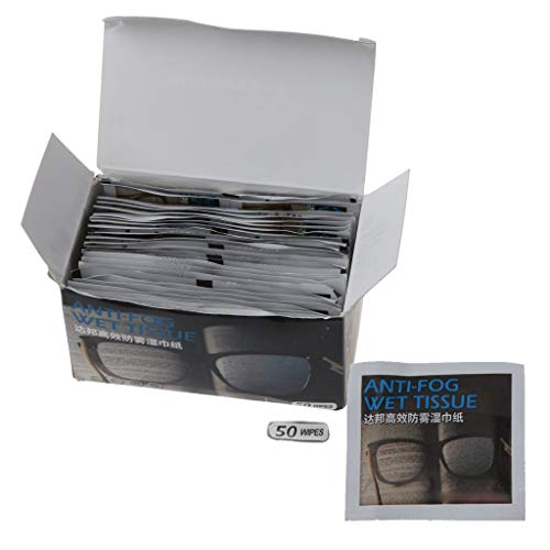 CCIIO 50 toallitas antiniebla para gafas antiempañadas, antiempañamiento de lentes antiempañamiento