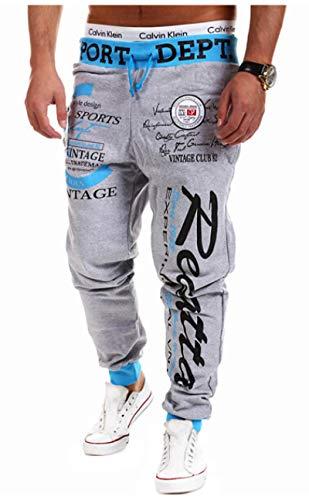ShSnnwrl Cómodo y Suave Vaqueros para Jeans Pantalones Nuevos Pantalones Casuales con Estampado De Letras para Correr, Pantalones