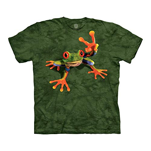 The Mountain Victory Frog Adult T-Shirt, Green, 3XL