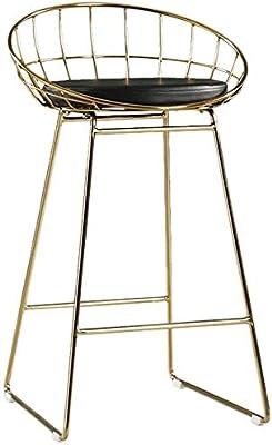 Juego de 2 taburetes de bar con reposapi/és de metal para bar CLIPOP mostradores y hogar