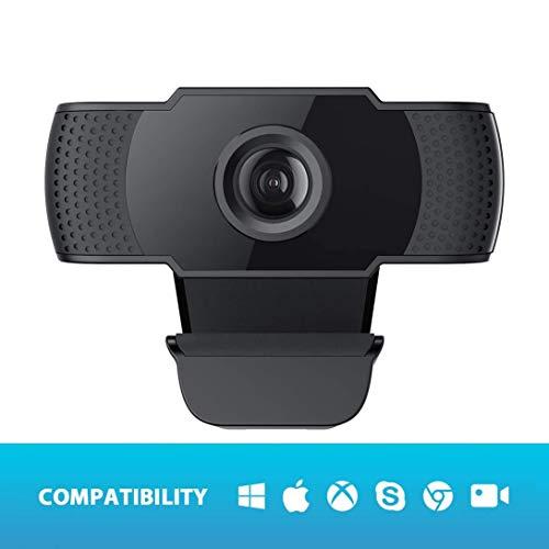 APTXYY 1080P de Alta definición cámara, de 360 Grados de la cámara giratoria con anulación de Ruido del micrófono de la cámara Web para Video Llamadas, Juegos, Transmisión en Vivo y conferencias