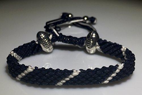 Mary's Terrace bracelet of cordes in RUGBY Couleurs. Faite à la Main sur Commande. Toutes les equipes de rugby disponibles BRISTOL