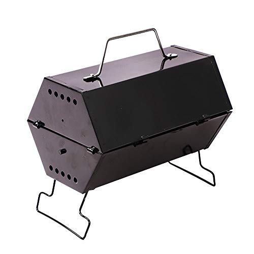 A - Z ZA Camping Grill, Vouwen Draagbare Lichtgewicht Barbecue Grill Gereedschap voor Outdoor Grilling Koken Camping Wandelen Picnics Tailgating Backpacking Party, Koffer Grill