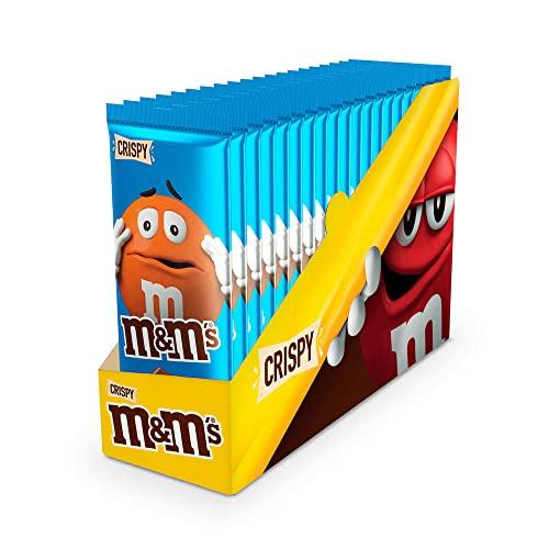 M&M's Tavoletta al Cioccolato Crispy con Riso Soffiato, Confezione da 16 Tavolette - 165 gr
