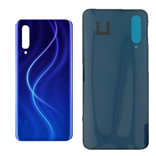 KIT 2 Pezzi n.1 Copri Batteria + n.1 biadesivo compatibile per XIAOMI Mi 9 Lite M1904F3BG MI CC9 6.39  Ricambio Vetro Posteriore Back Cover Retro Scocca adesivo blu