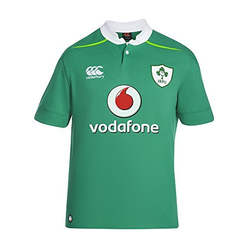 Purchase Canterbury Men's Ireland Home Classic Short Sleeve Rugby Jersey 2016/2017 - Bosphorous Gree...