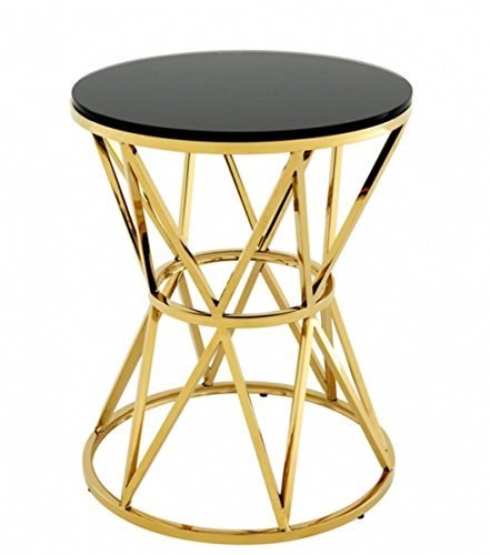 Casa Padrino Art Deco Designer Beistelltisch Gold 44 x H. 55 cm - Hotel Tisch Möbel