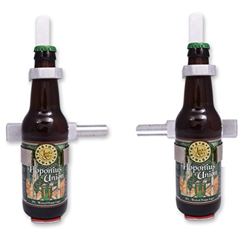 Burrell Scientific 075-770-00-02 Beverage Bottle Clamp, 2 Place, 12-22 oz. Bottles, Aluminum/Plastic, Works with All Burrell Wrist Action Shakers (Pack of 2)