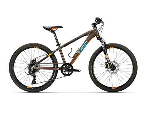 Bicicleta Conor WRC Pro Discs NEGRP/Naranja. Bicicleta Junior para Ocio Dos Ruedas. Bici para niños de 7 a 12 años Gama Alta. Bike para niñas. Ruedas 24 Pulgadas. Cambio de 8 velocidades.