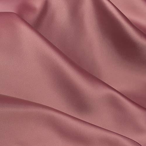 ZXC Tela De Raso Tela SatéN Vestidos Y Manualidades 150 cm De Ancho 2m Se Vende Por Metros Para Costura ElaboracióN De Ropa Ideal Para Elaborar Vestidos Para Bodas Graduaciones Raso(Color:Taro morado)