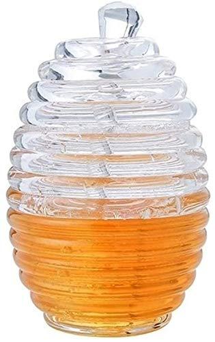 TQQ Recipiente Hermetico Tarros Clara Y Transparente Tarro De Cristal Tarro De Miel con La Salsa De Arándano Varilla Agitadora Fruta De La Fresa De Almacenamiento Jar Botella Miel
