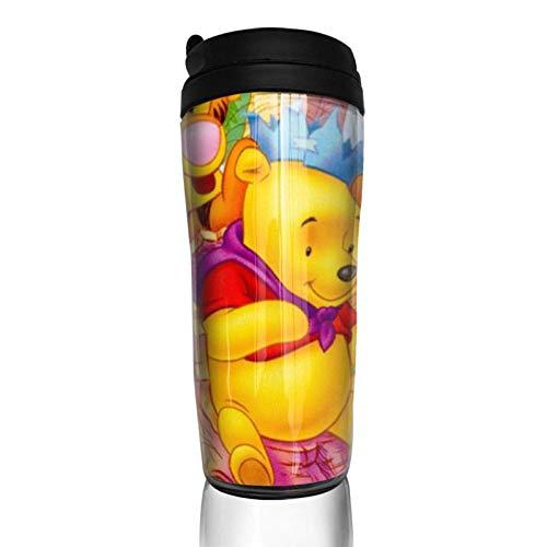 AOOEDM Coffee cup Winnie the Pooh Cute Pink Pig Travel Tazas de café Vasos de vacío de doble pared Taza aislada -12 oz