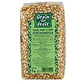 Maïs soufflé ou à éclater, Pop-Corn, sachet 1 kg, origine France, nature riche en...