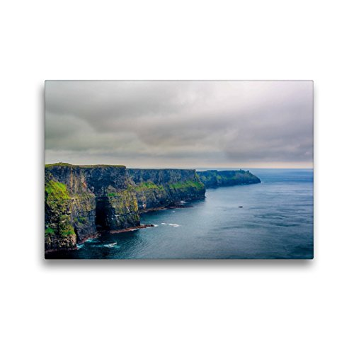 CALVENDO Premium Textil-Leinwand 45 x 30 cm Quer-Format Cliffs of Moher, Leinwanddruck von Mark Bangert