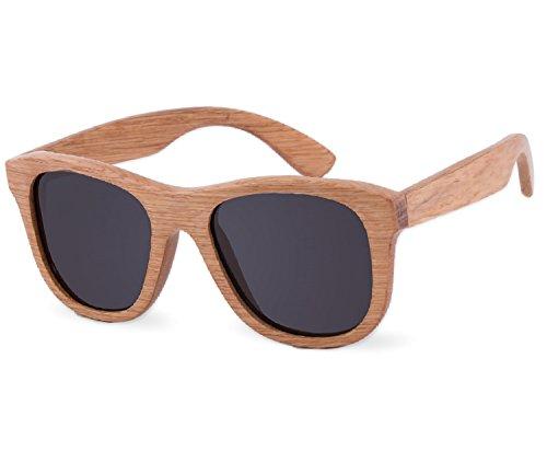 NEW UNISEX (Damen Heren) Holz Retro Vinatge Sonnenbrille + hölzernen Kasten Brille SUNGLASSES UV400 Protection