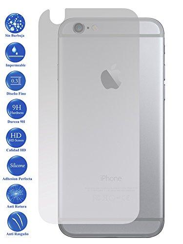 Todotumovil Protector de Pantalla Apple iPhone 6 I6 Trasero de Cristal Templado Vidrio 9H para movil
