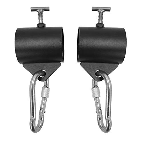 Luwint Olympic Chain Collars Barbell Clamps with Loops for Weightlifting Workout, Set of 2